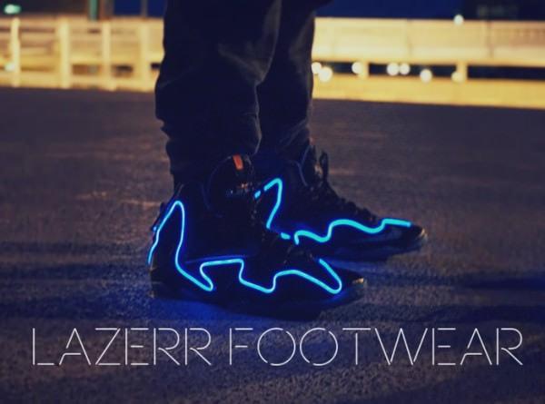 電飾スニーカー「Lazerr Footwear」で街を駆け抜けろ!夜道も安全に