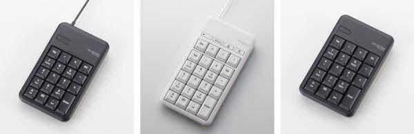1,000万回のキーストロークに耐えるテンキーパッド、エレコムが Bluetooth や USB 接続で