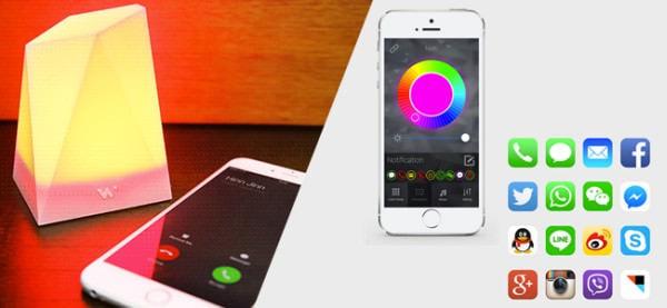 NOTTI は光の色で通知内容を伝える