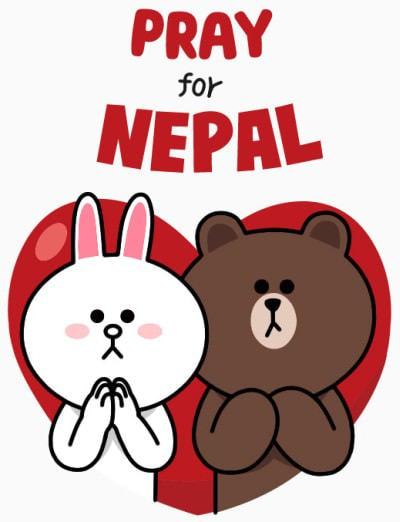 LINE、ネパール地震の被災者支援スタンプ「Pray for Nepal」発売、5月31日まで
