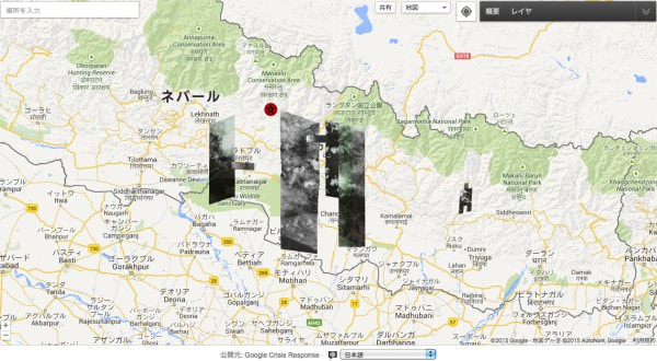 Google が地震後のネパールの衛星写真を公開、安否確認サービス「パーソンファインダー」も開始