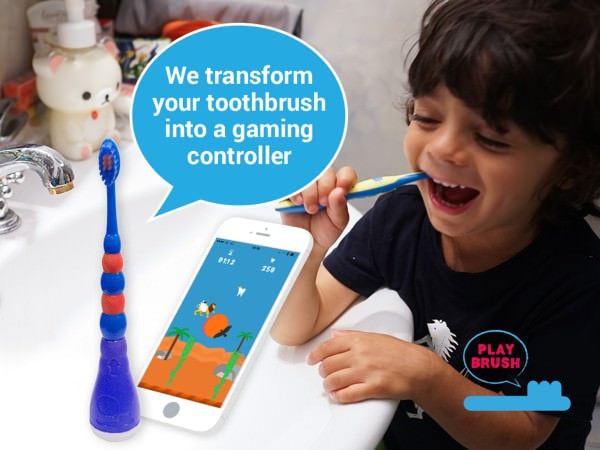 子どもも歯磨きが楽しくなる「Playbrush」、歯磨きをゲーミフィケーションで習慣に