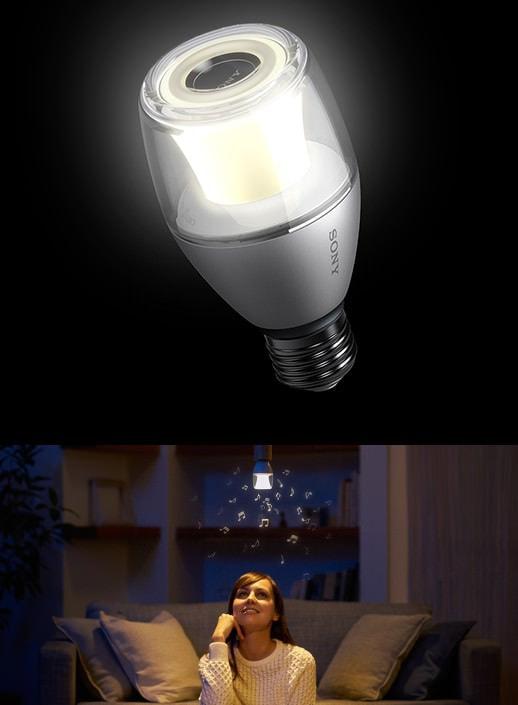 ソニーが Bluetooth スピーカー内蔵 LED 電球を発売、光と音楽が降り注ぐ