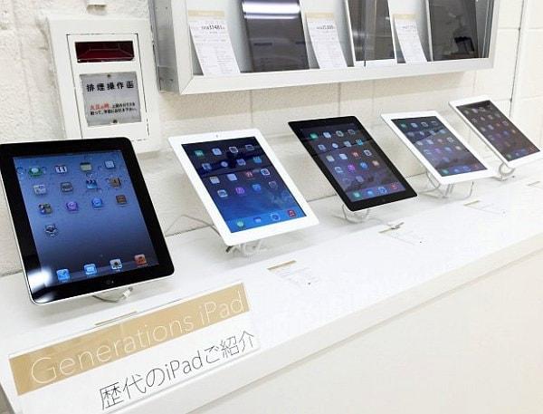 歴代 iPad 展示コーナー