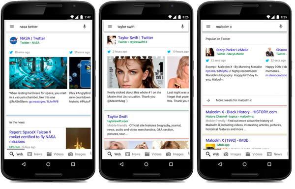 Google 検索がパワーアップ、最新のツイートも見られるように