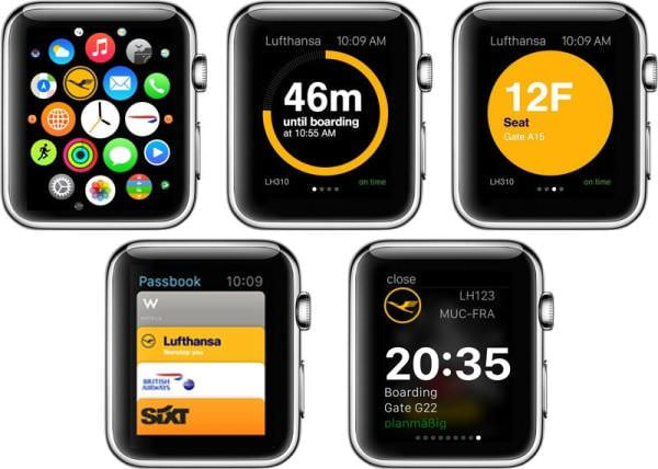 フライト情報や搭乗券など Apple Watch で確認、ルフトハンザがアプリを無料で配布