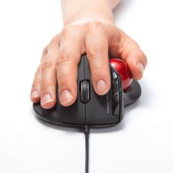 親指でカーソルを操作できるマウス―手首にやさしいエルゴデザインのトラックボールがサンワダイレクトから