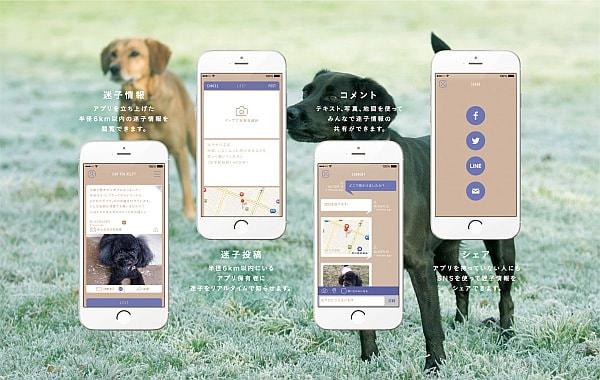 迷子犬を見つけたらこれ--半径6km のユーザーが捜索に協力するアプリ「FINDOG」