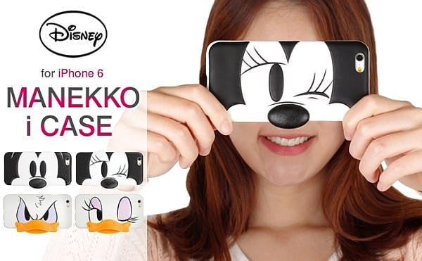 """ミッキーに化けられる iPhone 6 ケース--SNS の""""顔出し""""も可愛くお断り"""