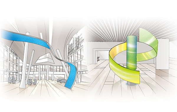 デジタルサイネージがぐにゃぐにゃに--曲面に対応する LED ビジョン登場