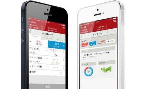 iPhone 版のイメージ (出典:IG 証券公式サイト)