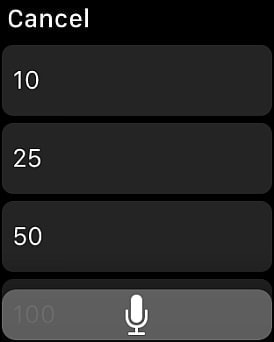 「Siri」を使った入力も可能