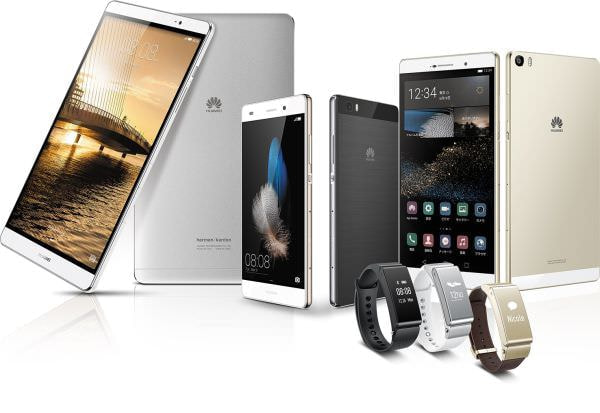 SIM ロックフリースマートフォンとタブレット、スマートバンドがファーウェイから