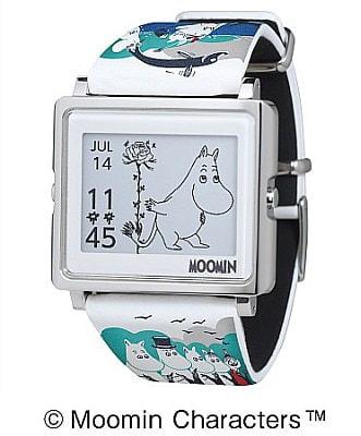 夏限定のムーミンも--電子ペーパー腕時計「Smart Canvas」の新モデル