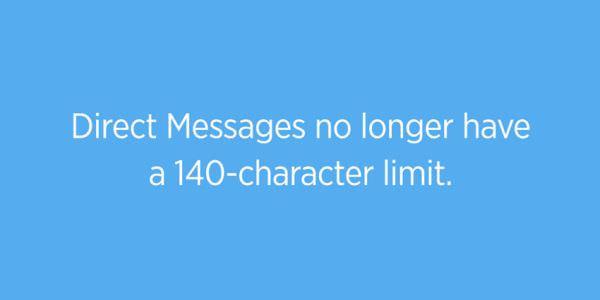 Twitterのダイレクトメッセージから140文字制限が消える