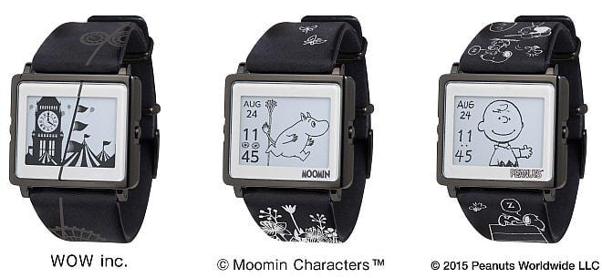 ムーミンも大人っぽく--電子ペーパー腕時計「Smart Canvas」の新モデル