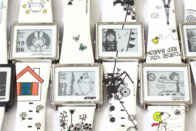 ムーミンたちといつも一緒--電子ペーパー式リストウェア「Smart Canvas」は絵本のような楽しさが魅力