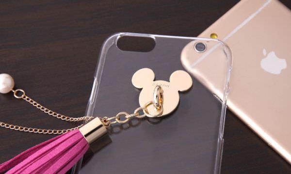 金のミッキー×レザー風タッセル、ディズニー大好き女子向けiPhone6s/6対応ケース