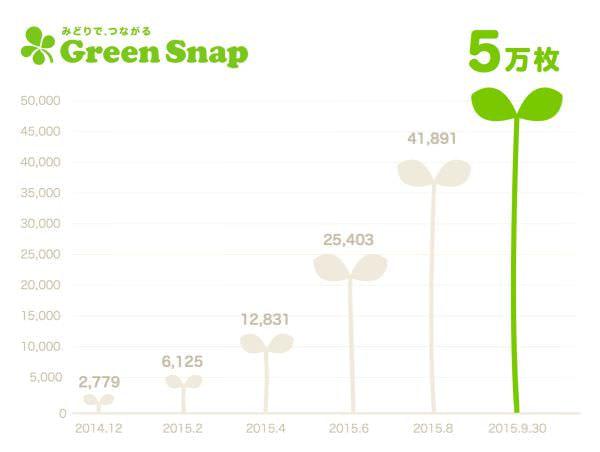 投稿枚数が5万枚突破の植物写真共有サービス「GreenSnap」、多肉植物が人気