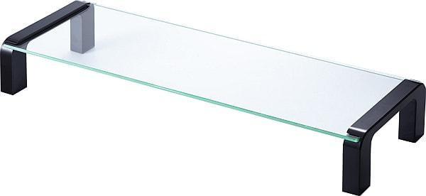 ガラス製の天板で圧迫感がない