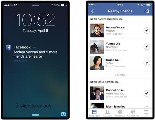 Facebookの「近くにいる友達」機能、日本でも利用できる