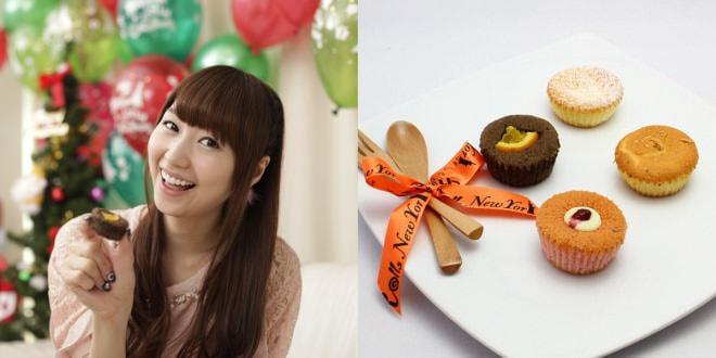 映像イメージ(左)、付属するカップケーキ