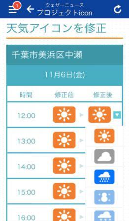 一般ユーザーが編集に参加する天気予報「プロジェクトicon」、ウェザーニューズが開始