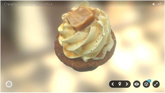 カップケーキを撮影して…