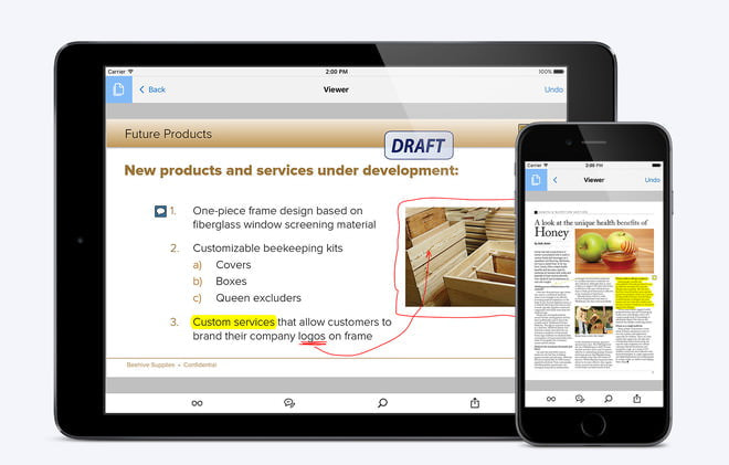 iPhone・iPadで「PDF文書」をらくらくシェア、共同編集―Adobe Readerアプリが刷新