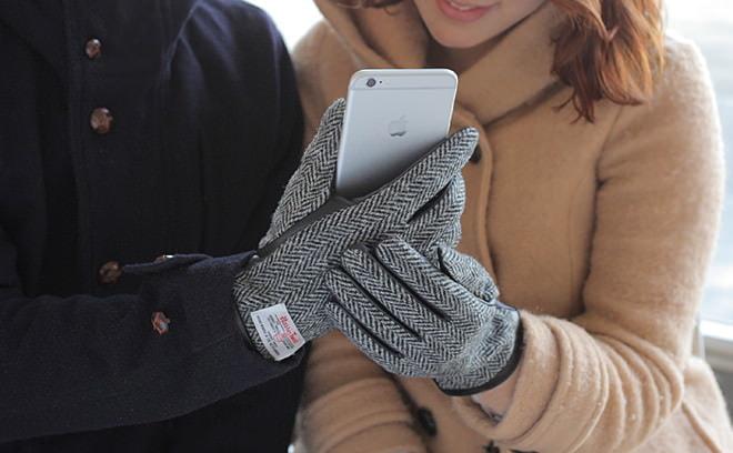 あったかそう―スマホを操作できる「ハリスツイード」の手袋