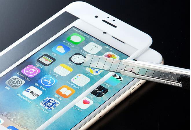 音がイヤそう―「カッターナイフでも傷つかない」iPhoneフイルム