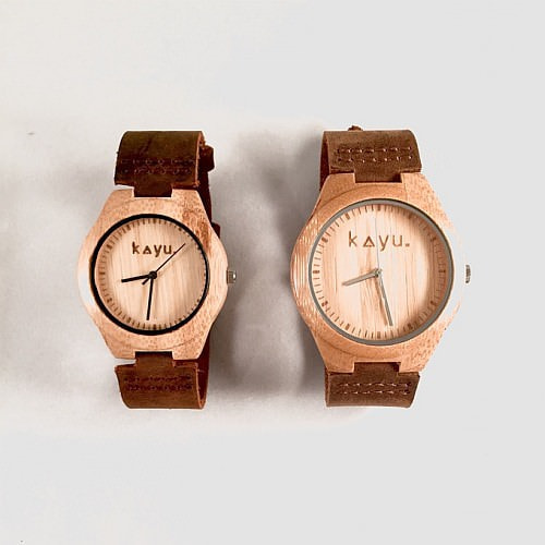 「Kayu 'EARTH MMXV' Bamboo Wristwatch」