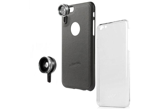 iPhoneに広角・魚眼レンズを「1秒で」取り付けられるケース