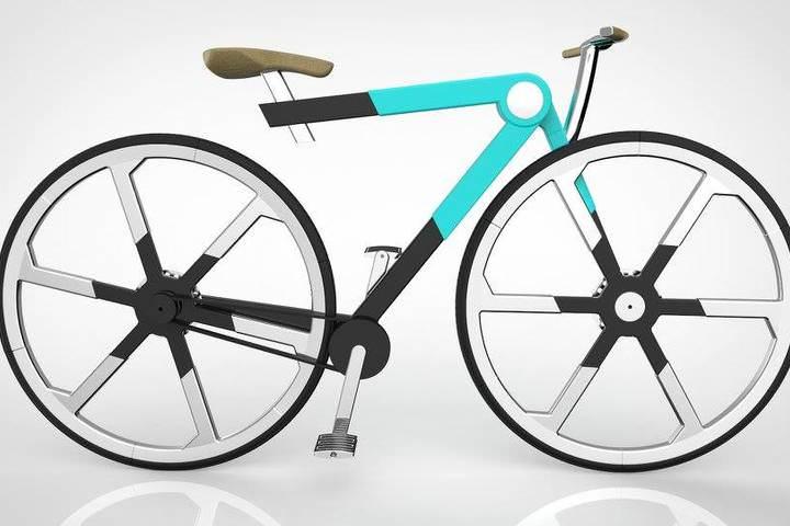 バックパックに入る折り畳み自転車「ZED'O」―その秘密は折り畳めるホイール! [インターネットコム]