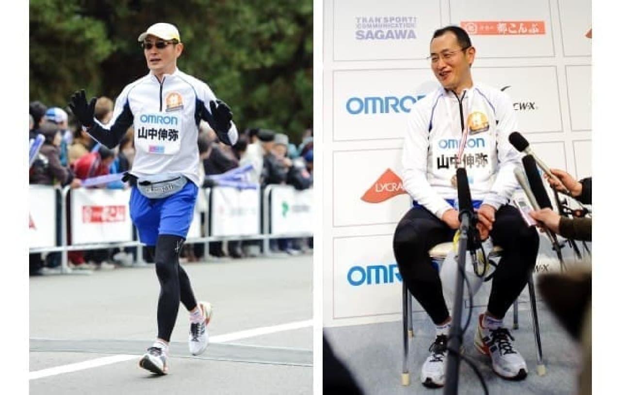 2012年の第1回京都マラソン参加のようす