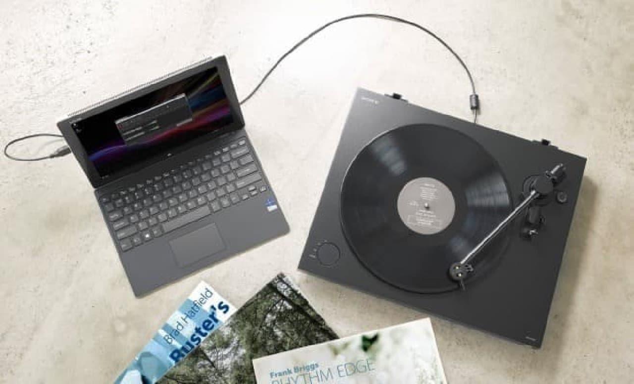 ソニーの新ターンテーブル「PS-HX500」、アナログ盤をハイレゾ音源に変換できる