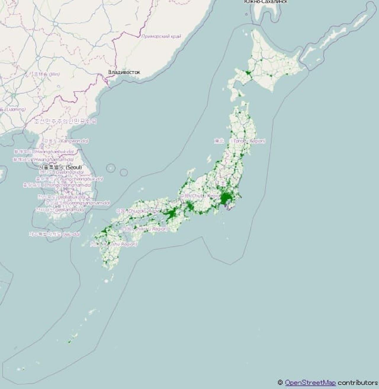 NTTデータが2013年の「バルス」ツイート発信元を分析した地図。なぜ作った