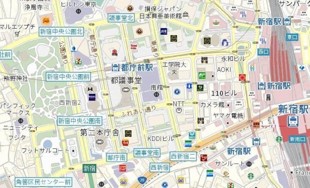 普通の地図はこう