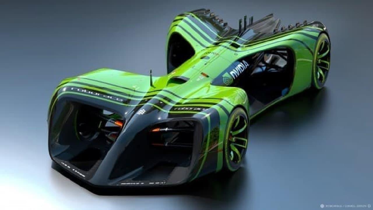 NVIDIAのAI用コンピューターを搭載するレースカー