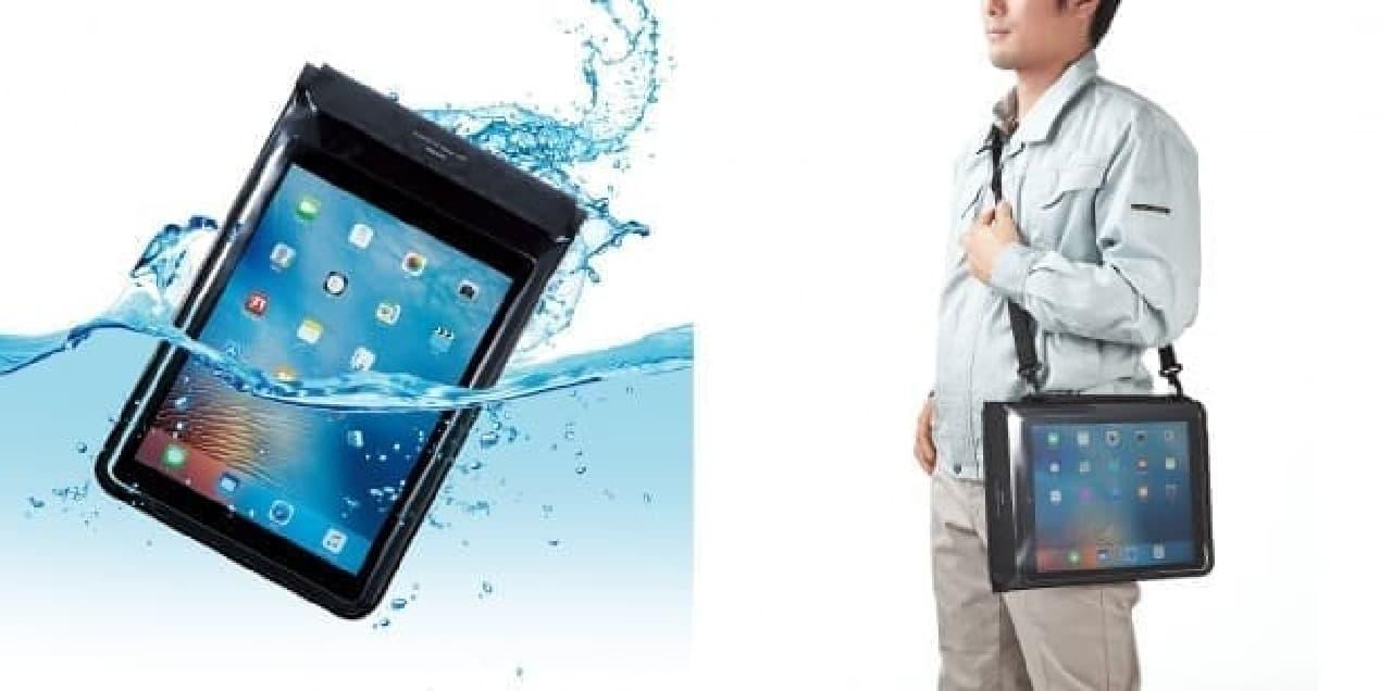 防塵(ぼうじん)・防水ケース「PDA-TABWPST12」