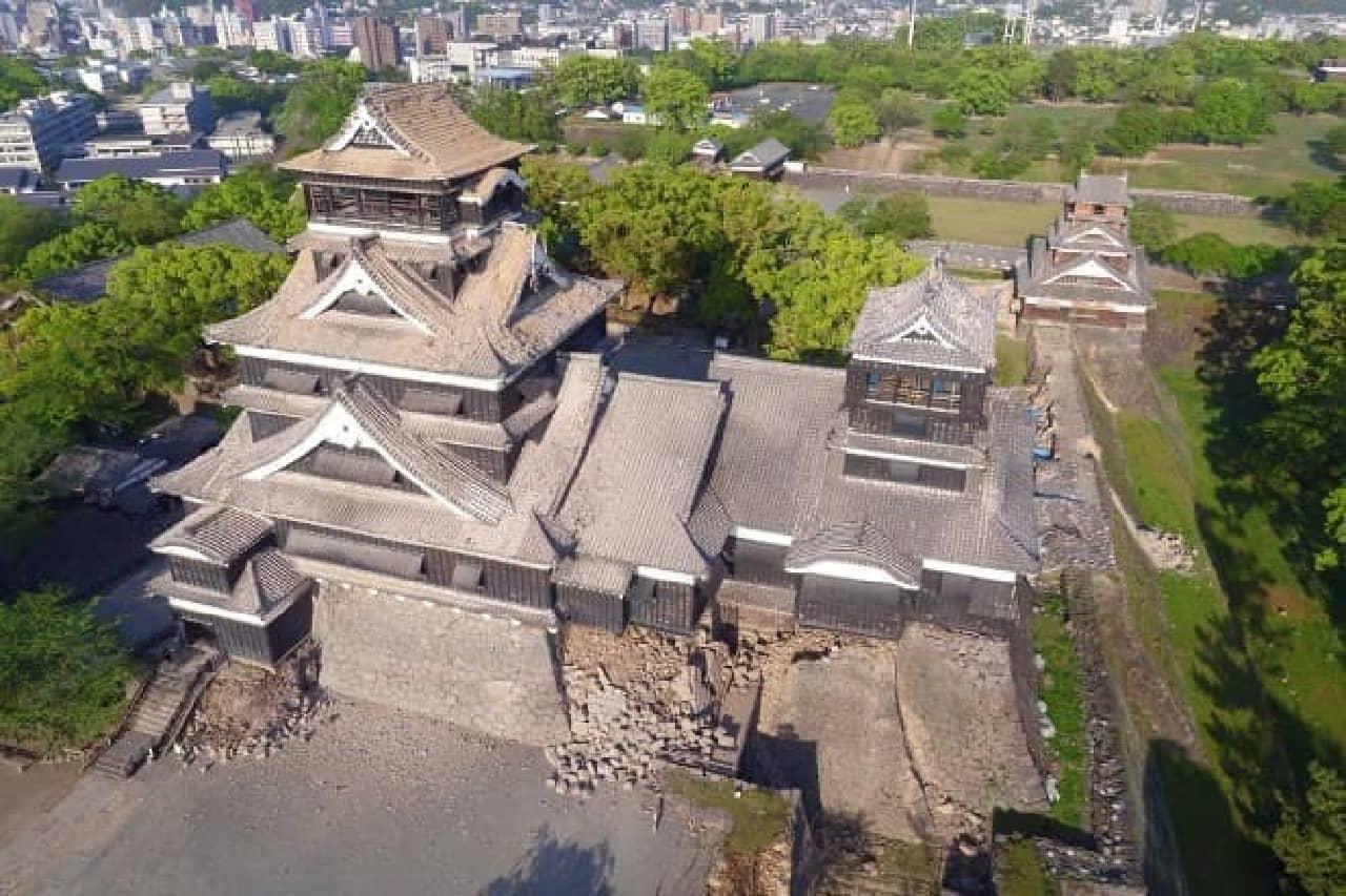 熊本城再建支援の呼びかけ(出典:Yahoo!ネット募金)
