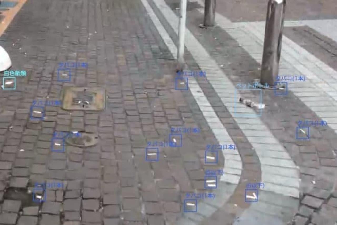 路上に散ったゴミを把握する人工知能