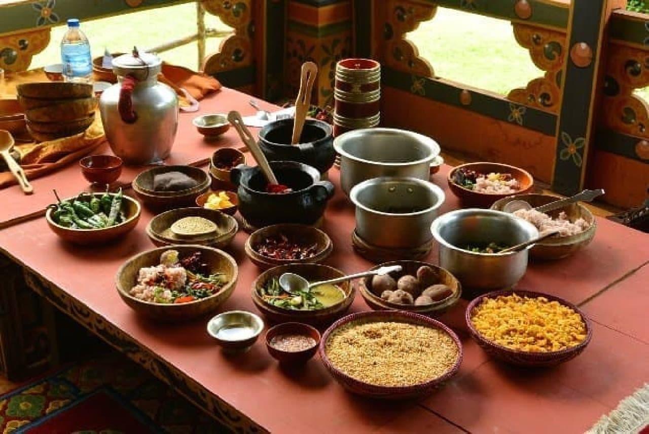 ブータンの家庭料理。インスタグラム向けならどう撮る?