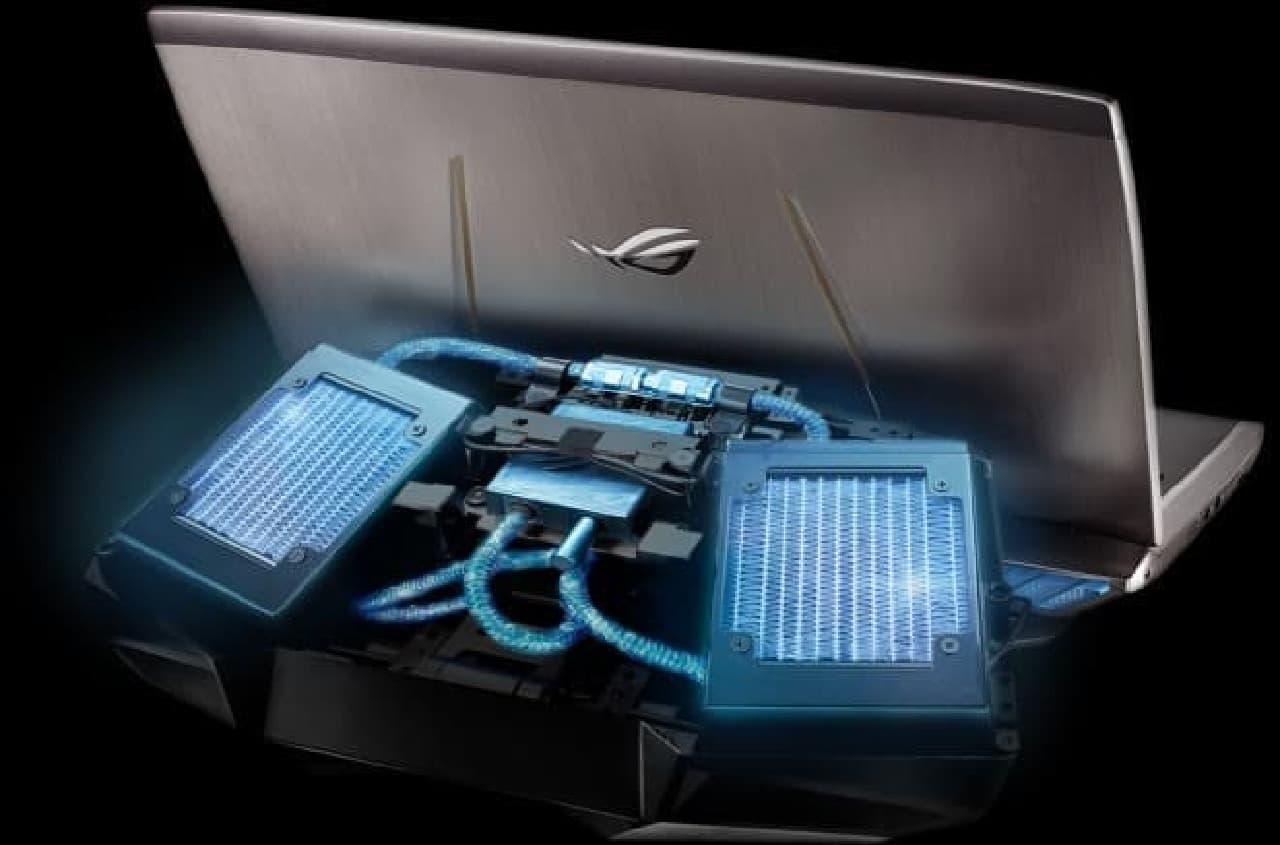ゲーミングノートPC用液冷ドック