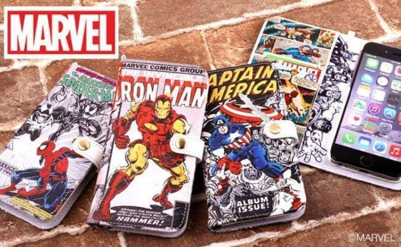 [iPhone6s/6専用]Marvel Comics ダイアリーケース