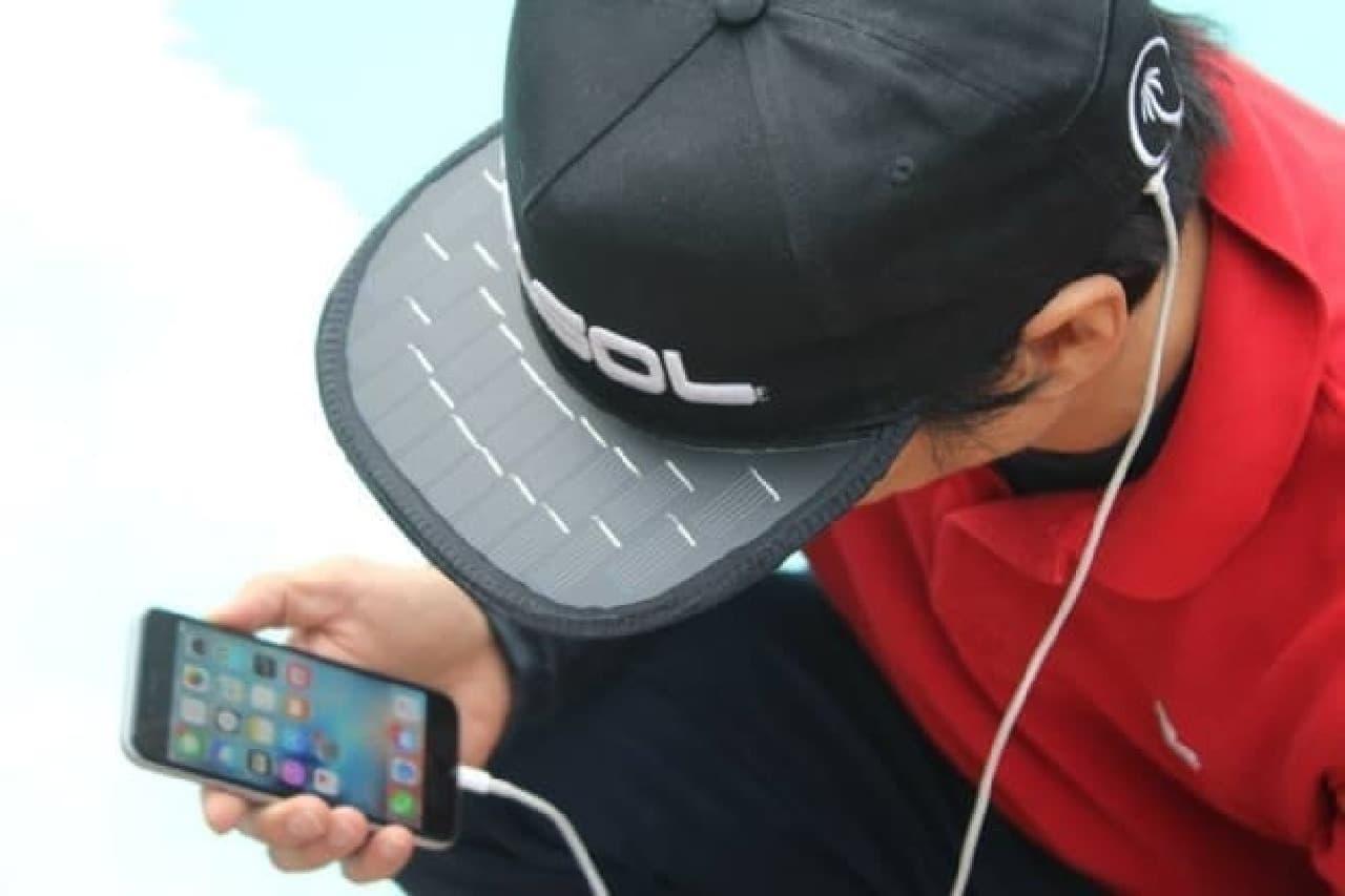 ソーラーパネル付きの帽子「SolSol」
