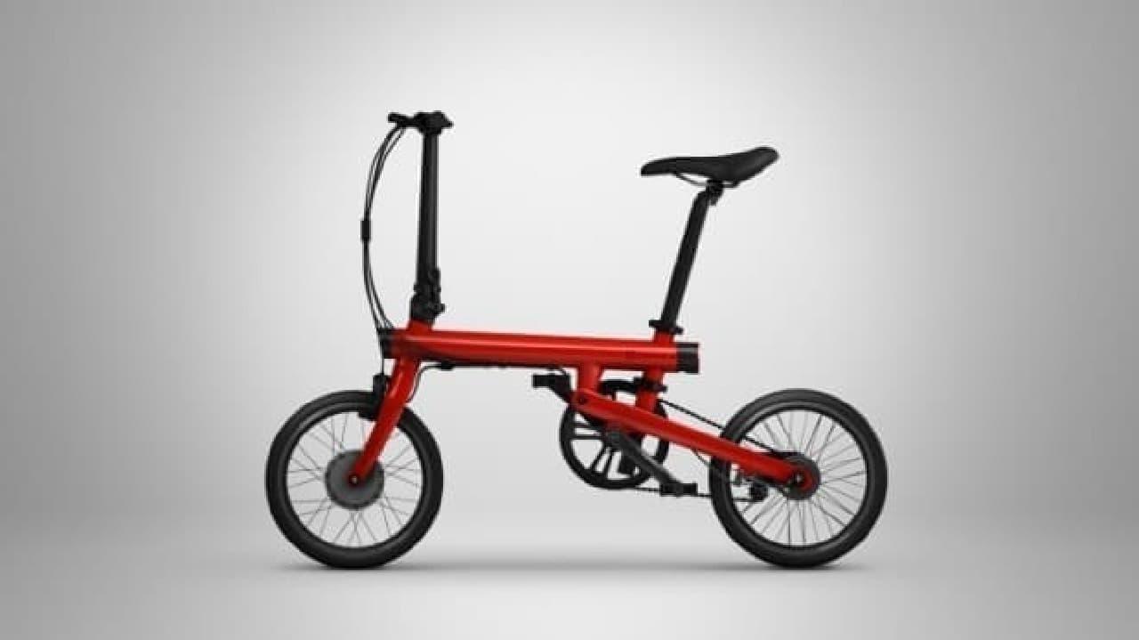 Xiaomiによる電動アシストに見えない折り畳み自転車「Mi QiCYCLE」