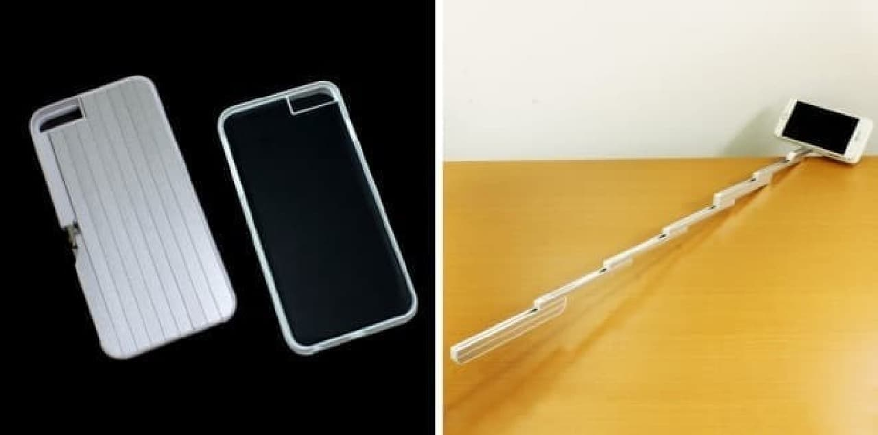 自撮り棒に変形するiPhoneケース