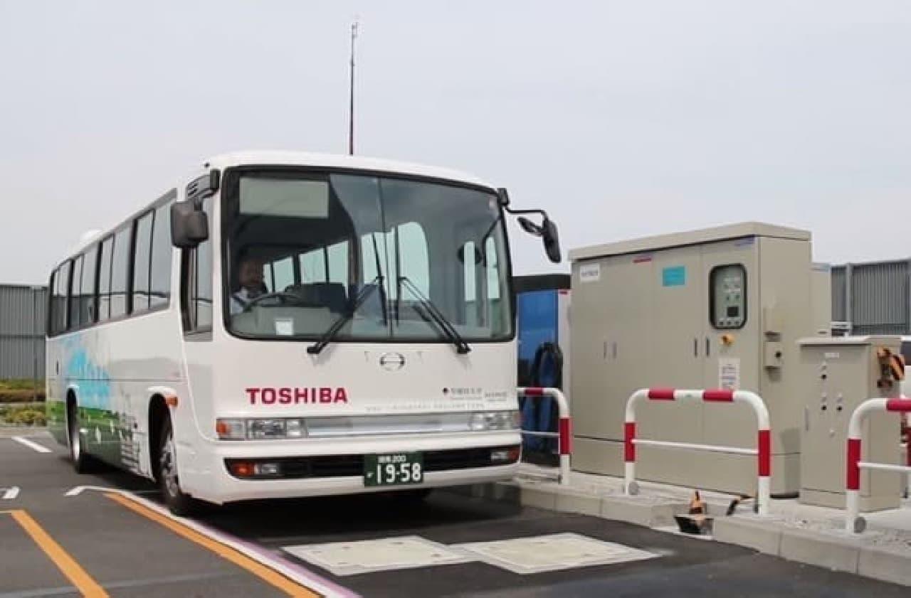 電気バス充電場所