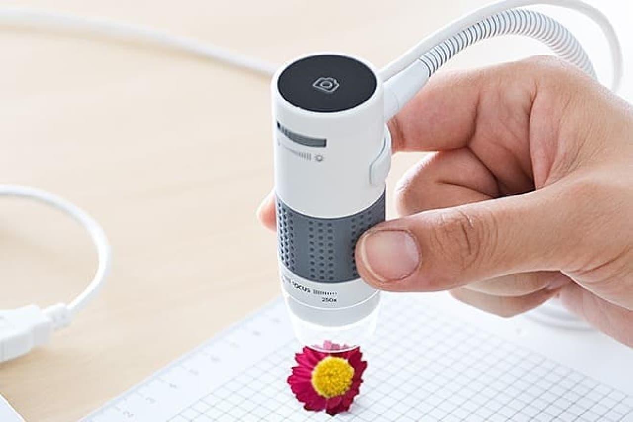 デジタル顕微鏡のスナップショットボタン